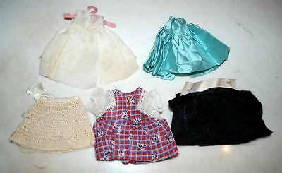 Vintage Handmade Lot Of Of 5 Doll Clothes 1950's Small ~131~