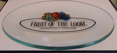 Vintage RARE Fruit Of The Loom Glass Decorative Collectors Plate NEW