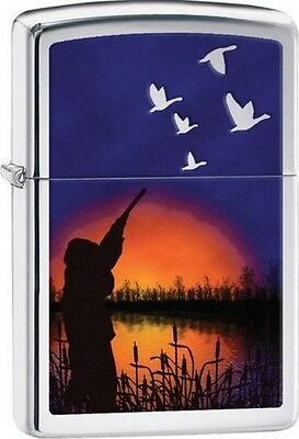 Zippo 29076 duck hunter high polish chrome finish full size Lighter