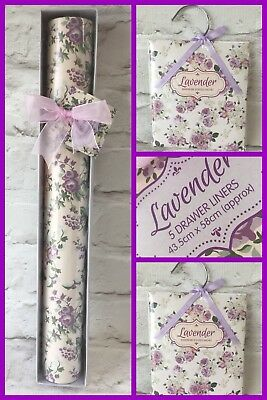 Lavender Scented Drawer Liners /sheets Scented Sachets & Wardrobe hanging Sachet