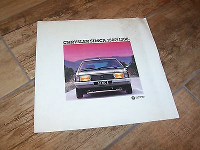 Prospectus  / Brochure CHRYSLER SIMCA 1307 / 1308 1977 / 1978 //