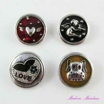 Premium 18mm Metal Noosa Style Snap on Chunk Button Select Design