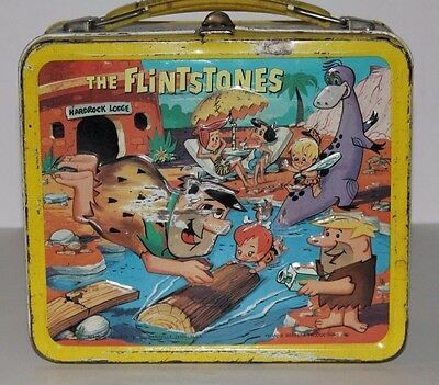 Vintage Metal Lunchbox W/metal Thermos 1964 The Flintstones