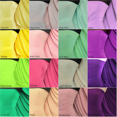 Silk touch 4 way stretch jersey lycra fabric by the meter craft Q53