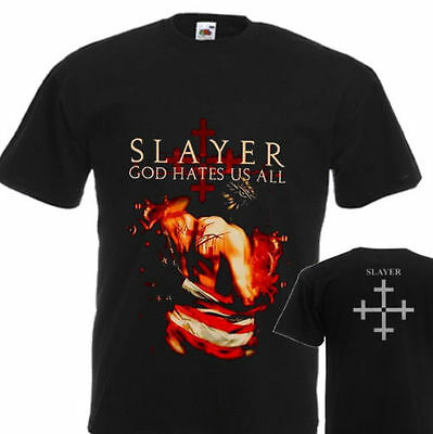"""New T-Shirt """"God Hates Us All - Slayer"""" Dtg Printed Tee- S- 7Xl"""