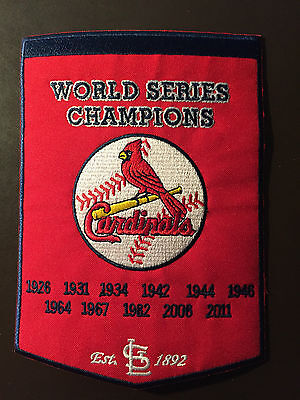 St Louis Cardinals - World Series Champions banner patch - incredible graphics