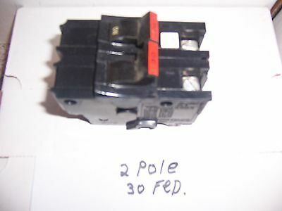 2 Pole 30 Amp Federal Pacific Stab Lok Breaker 120/240 Volt/fpe