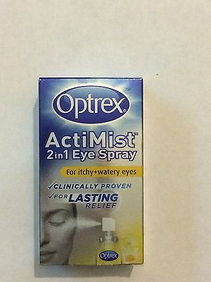 OPTREX ACTIMIST 2 In 1 EYE SPRAY FOR ITCHY + WATERY EYES BNIP 100% AUTHENTIC