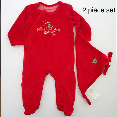 BNWT - Baby Unisex Red Sleepsuit with matching comforter - Age 6 months