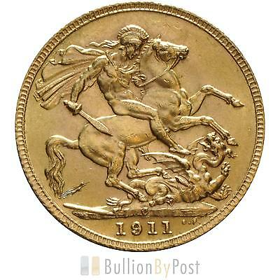 1911 Gold Sovereign - King George V - C - marked
