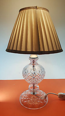 Galway Cut Crystal Electric Hurricane Storm Table Lamp Ireland 14""