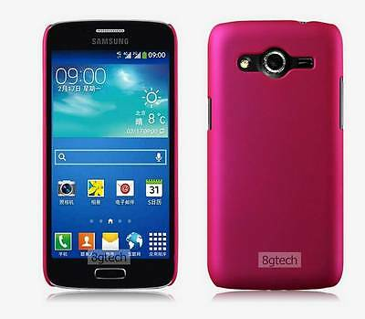 Hot Pink Hard Snap-On Skin Case Cover For Samsung Galaxy Core LTE SM-G386W