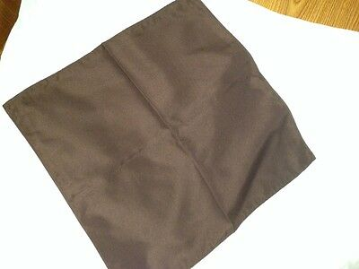 50 Brown Chocolate Wedding/Catering Dinner Cloth Linen Napkins 20X20