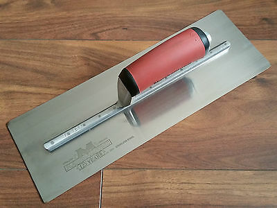 "J.BARR 14"" Marshalltown precision polished finishing trowel ready to work used"