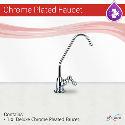 4bee9376a30 Reverse Osmosis RO Deluxe Style CP Chrome Plated Non Air Gap Water Filter  Faucet