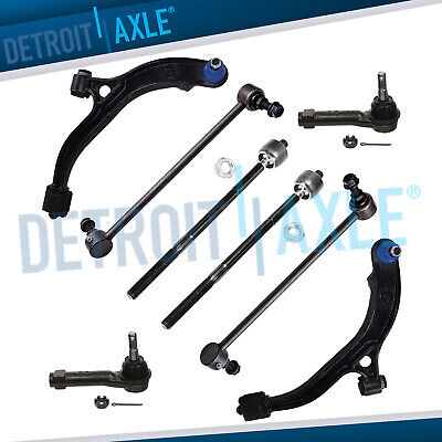 8pc Front Lower Control Arm Tie Rod Kit Plymouth Voyager Dodge Grand Caravan