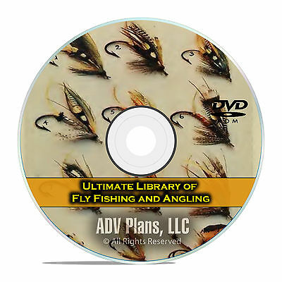 Fly Fishing Series, Luring, Angling, 300 Books, Tackle, Reel Making, PDF DVD E70
