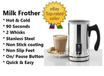 Coffee Milk Frother & Warmer Electric Automatic Cappuccino Latte Expressi
