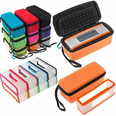 Carry Case Bag with Silicone Skin Cover For Bose-Soundlink Mini/Mini 2 Speaker