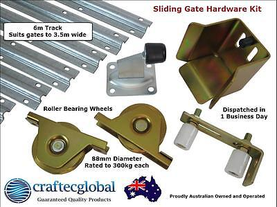 Sliding Gate Hardware Accessories Kit*6m Track*88mm Wheels*Installation*Fence