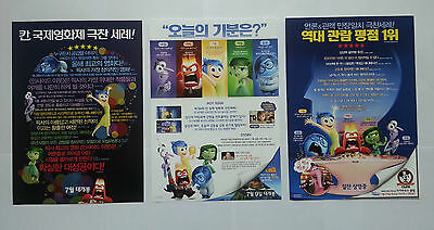 Inside Out Full Set 3 Sheets Korean Mini Movie Posters Movie Flyers (A4 size)