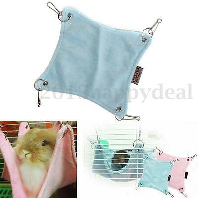 Cute Plush Warm Hamster Hammock Hanging Bed Cave Rat Bed Pets Cage House