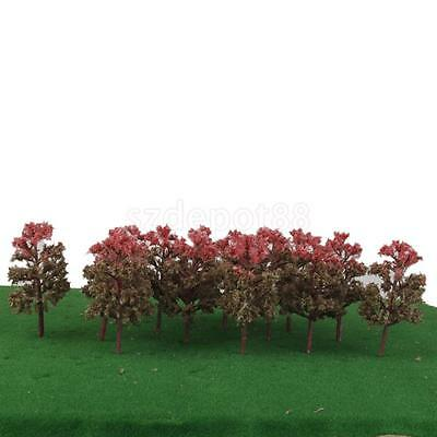 20pcs Model Trees 1:150 N Scale Layout Diorama Train Park Landscape Scenery