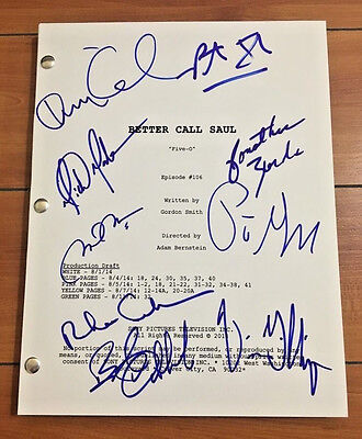 BETTER CALL SAUL SIGNED EPISODE 6 FULL SCRIPT BY X9 CAST BOB ODENKIRK w/PROOF