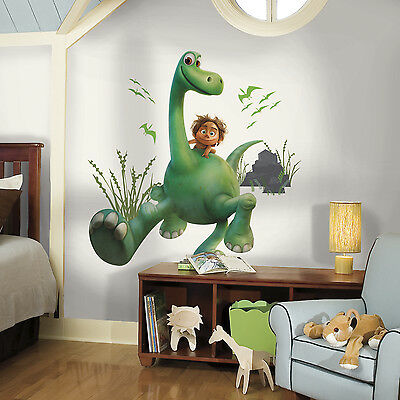 "ARLO GIANT WALL STICKERS 33"" The Good Dinosaur Decals Kids Dinosaurs Room Mural"