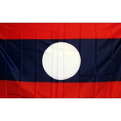 Laos (New) 3 x 5' Banner National Flag 90cm x 150cm