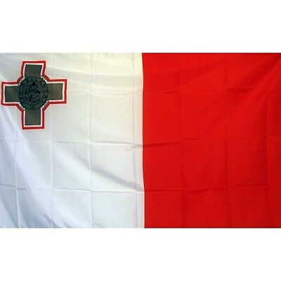 Malta 3 x 5' Banner National Flag 90cm x 150cm