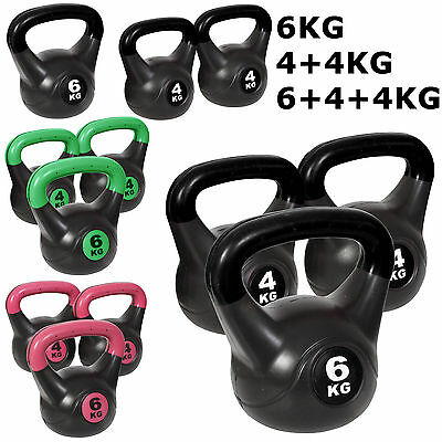 Noz Vinyl Kettlebell Weight Sets Fitness Exercise Aid Strength Training Home Gym