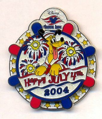 Disney Cruise Line DCL Happy July 4th Sailor Pluto Spinner LE Pin