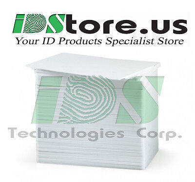 100 Blank White PVC Cards, CR80, 30 Mil, Graphics Quality, ***Free Shipping***