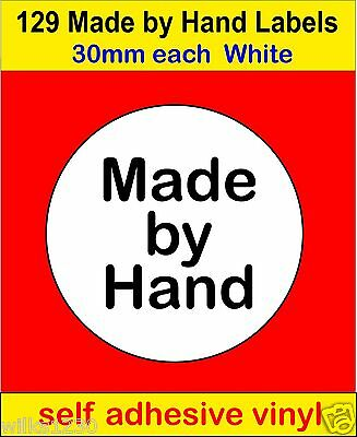 129 Made by Hand Handmade Soap Candle card Labels self adhesive vinyl Stickers