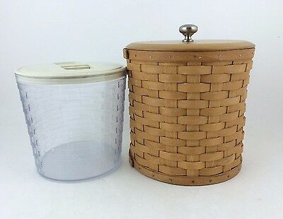 Longaberger Large Canister Basket w Insert and Lid