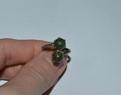 Vintage Ireland Sterling Silver And Connemara Ring Size 5