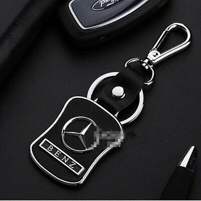 Mercedes Benz Color Metal Chrome Embossed Stainless Steel Key Ring Keyring Chain