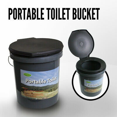 Portable Toilet, Camping Toilet Box Thunderbox Boom Bucket Bush Dunny