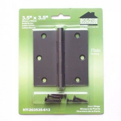Bolton 3.5 Inch Square Corner Brass Hinge In Dark Oil Rubbed