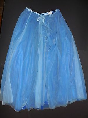 NWT Body Wrappers Liturgical Praise Double Layer Chiffon Royal Light Blue SKirt