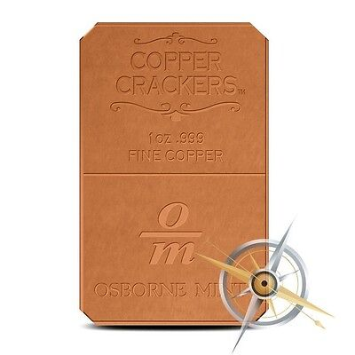 1 oz Copper Bar - Osborne Mint