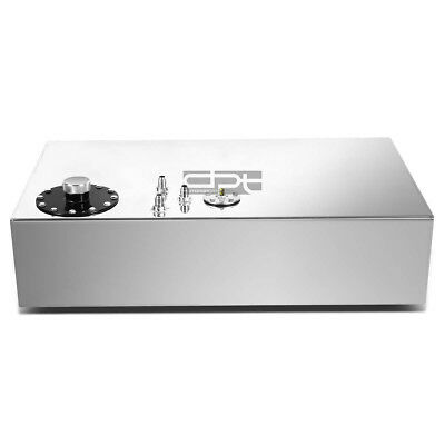 17 Gallon Top-Feed Polished Aluminum Race Drift Fuel Cell Tank+Cap+Level Sender