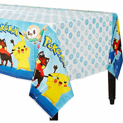 Pokemon Pikachu & Friends Plastic Table Cover Birthday Decorations Party Supply