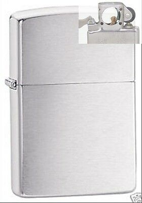 Zippo 200 brushed chrome full size Lighter with PIPE INSERT PL
