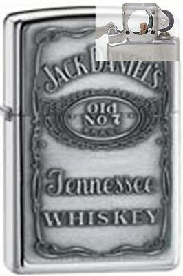 Zippo 250jd.427 jack daniel's chrome Lighter with PIPE INSERT PL