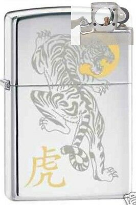 Zippo 6358 tiger chrome Lighter with PIPE INSERT PL