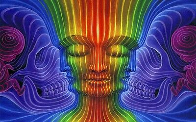 "Alex Grey Art Silk Cloth Poster 21 x13"" Decor 11"