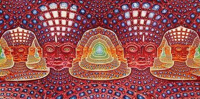 "Alex Grey Art Silk Cloth Poster 28 x13"" Decor 15"