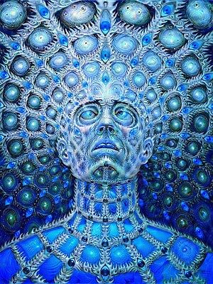 "Alex Grey Art Silk Cloth Poster 32 x 24"" Decor 06"